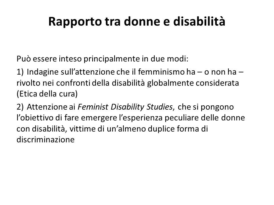 Rapporto tra donne e disabilità