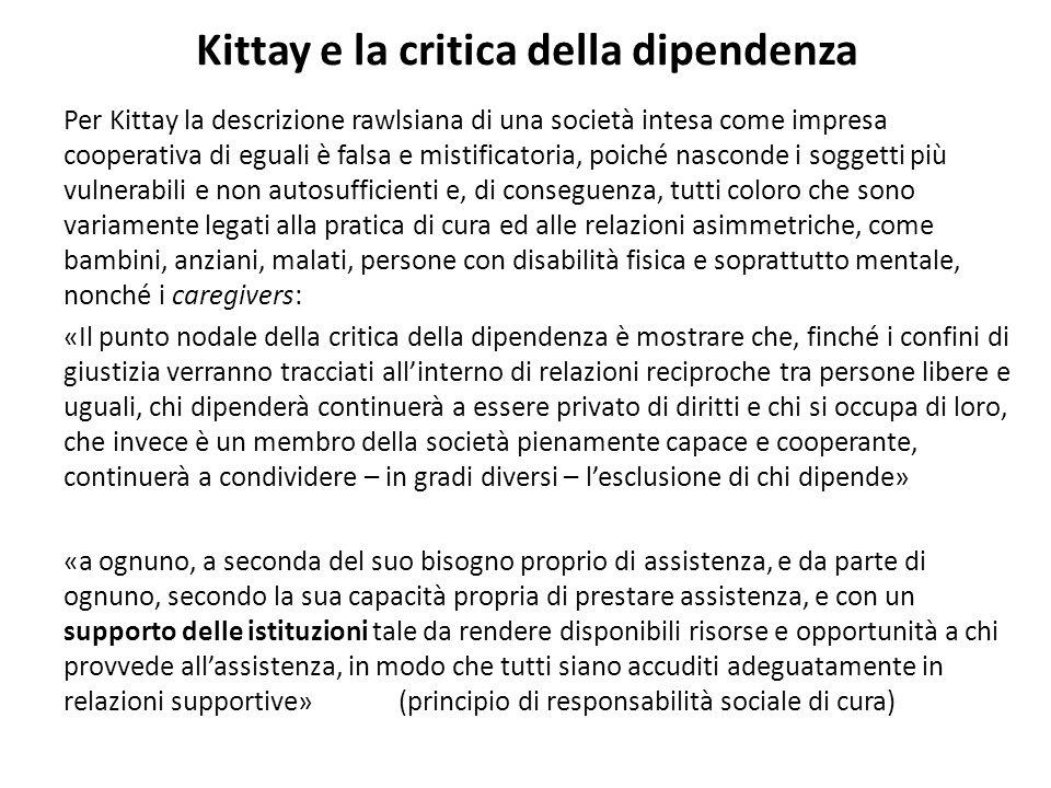 Kittay e la critica della dipendenza