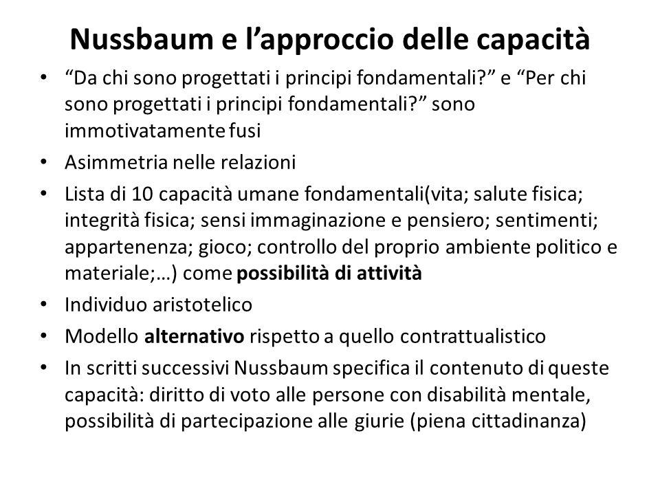 Nussbaum e l'approccio delle capacità