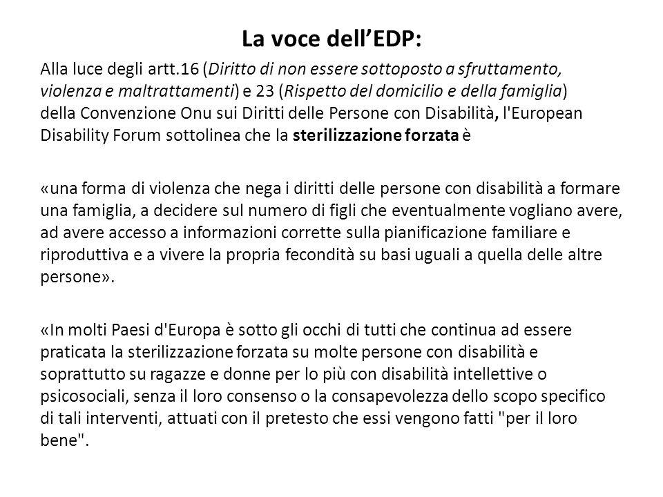 La voce dell'EDP: