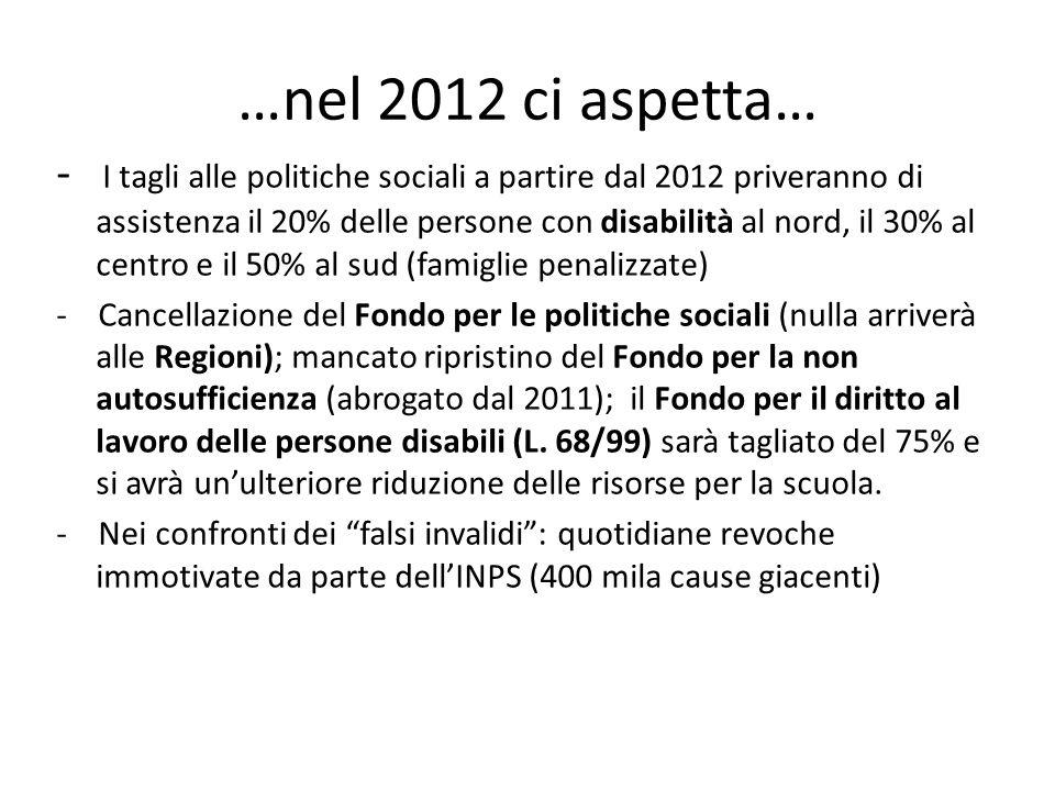 …nel 2012 ci aspetta…