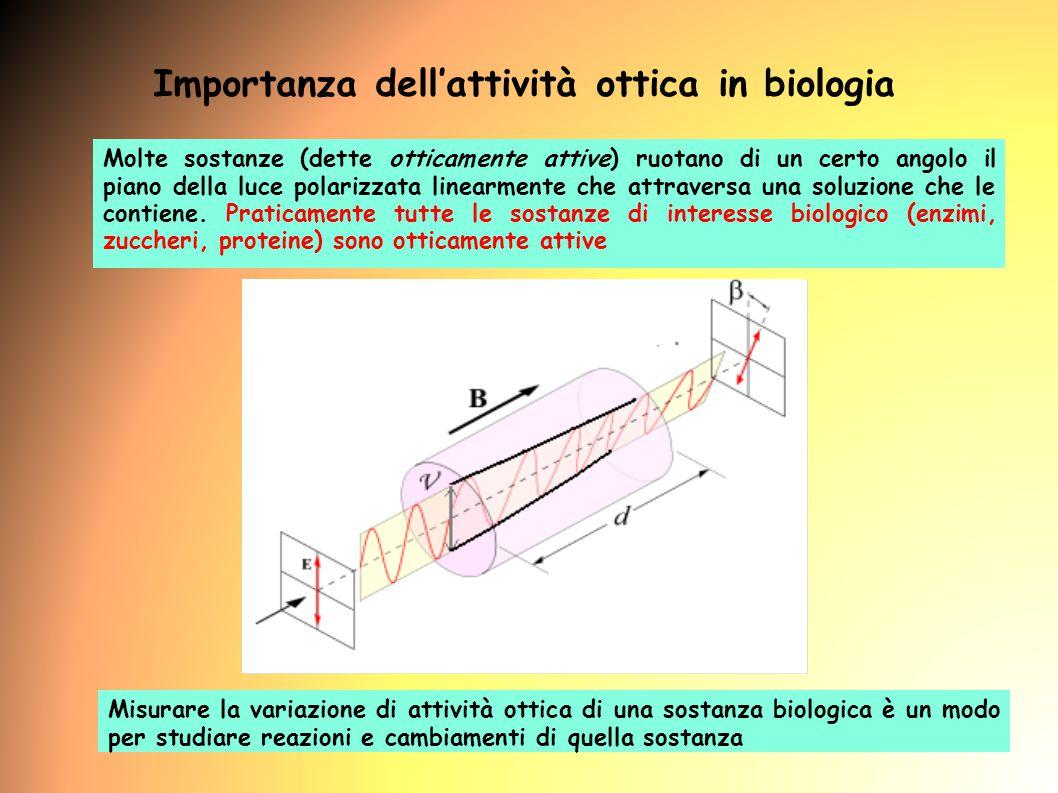 Importanza dell'attività ottica in biologia