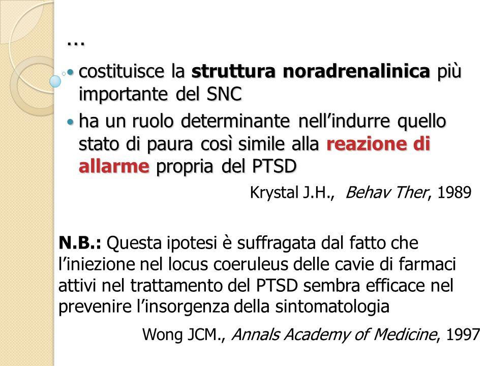 … costituisce la struttura noradrenalinica più importante del SNC
