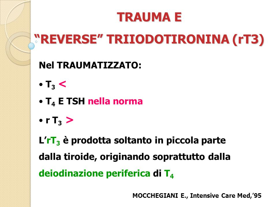 REVERSE TRIIODOTIRONINA (rT3)