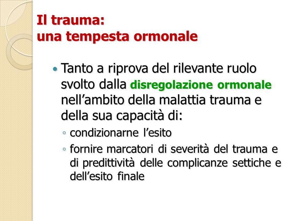 Il trauma: una tempesta ormonale