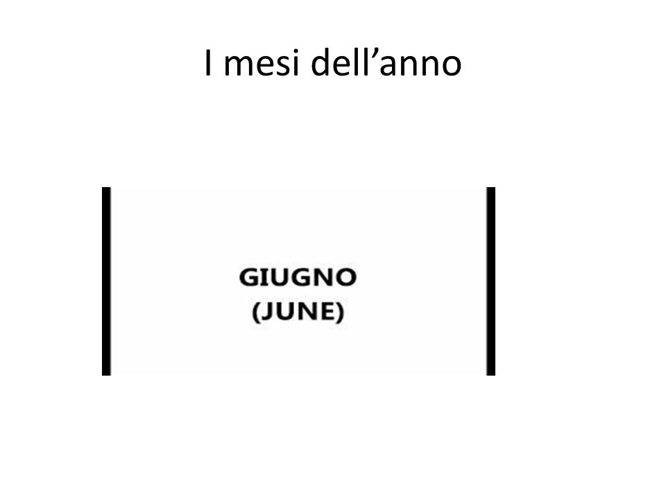 I mesi dell'anno http://www.youtube.com/watch feature=player_detailpage&v=tNG7yuU-uuw#t=0