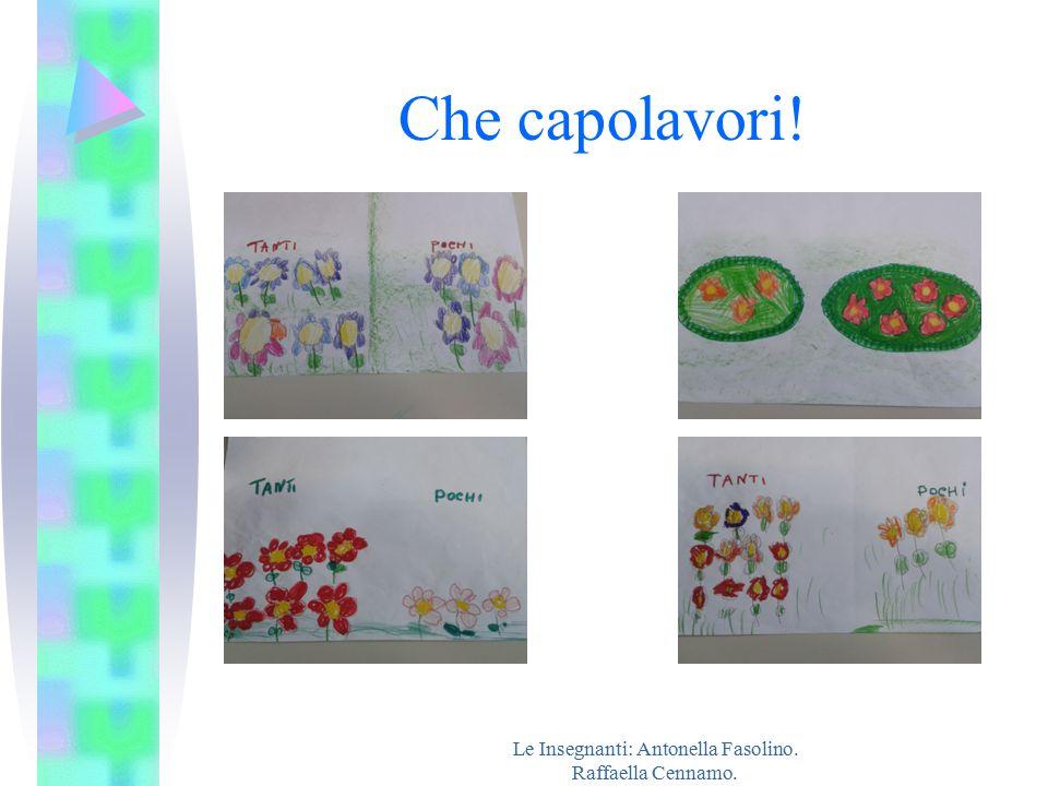 Le Insegnanti: Antonella Fasolino. Raffaella Cennamo.