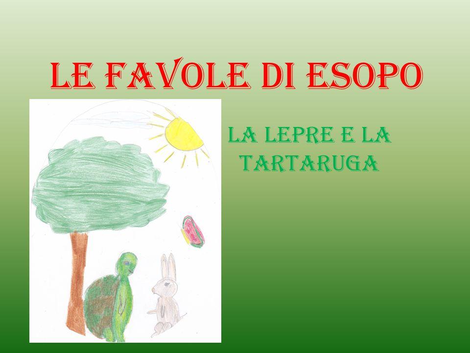 Le Favole di Esopo La lepre e la tartaruga