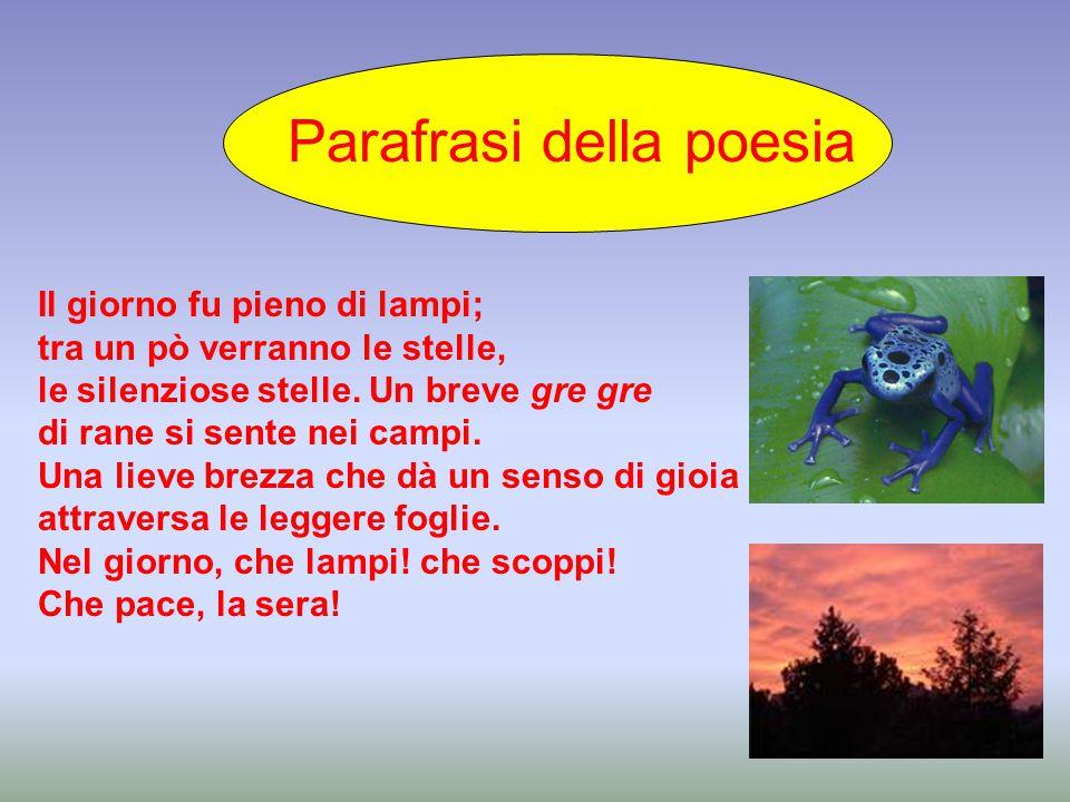 Parafrasi della poesia