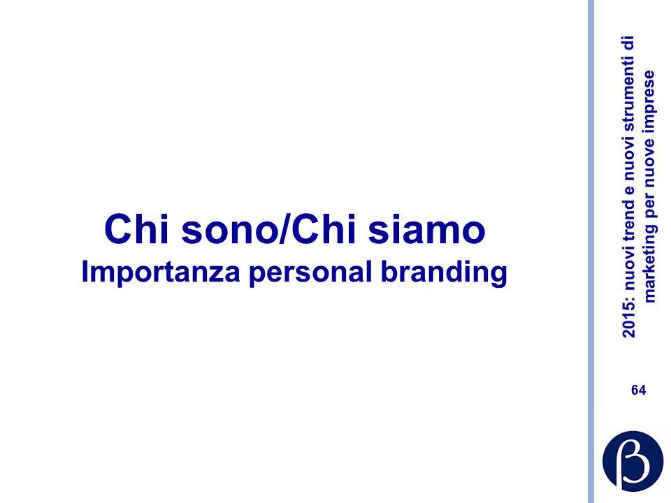 Chi sono/Chi siamo Importanza personal branding