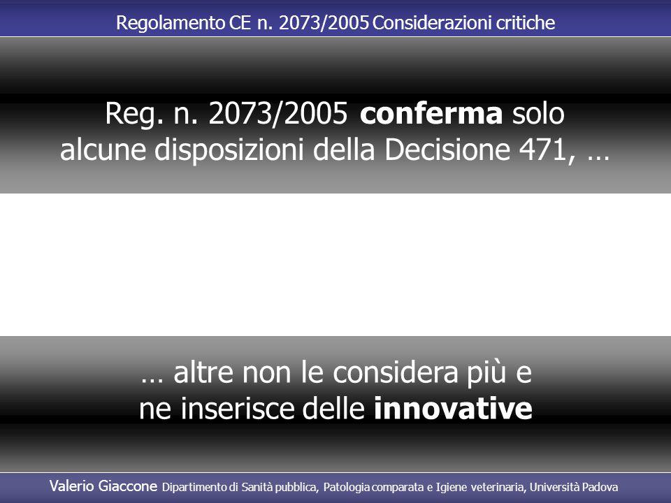 alcune disposizioni della Decisione 471, …