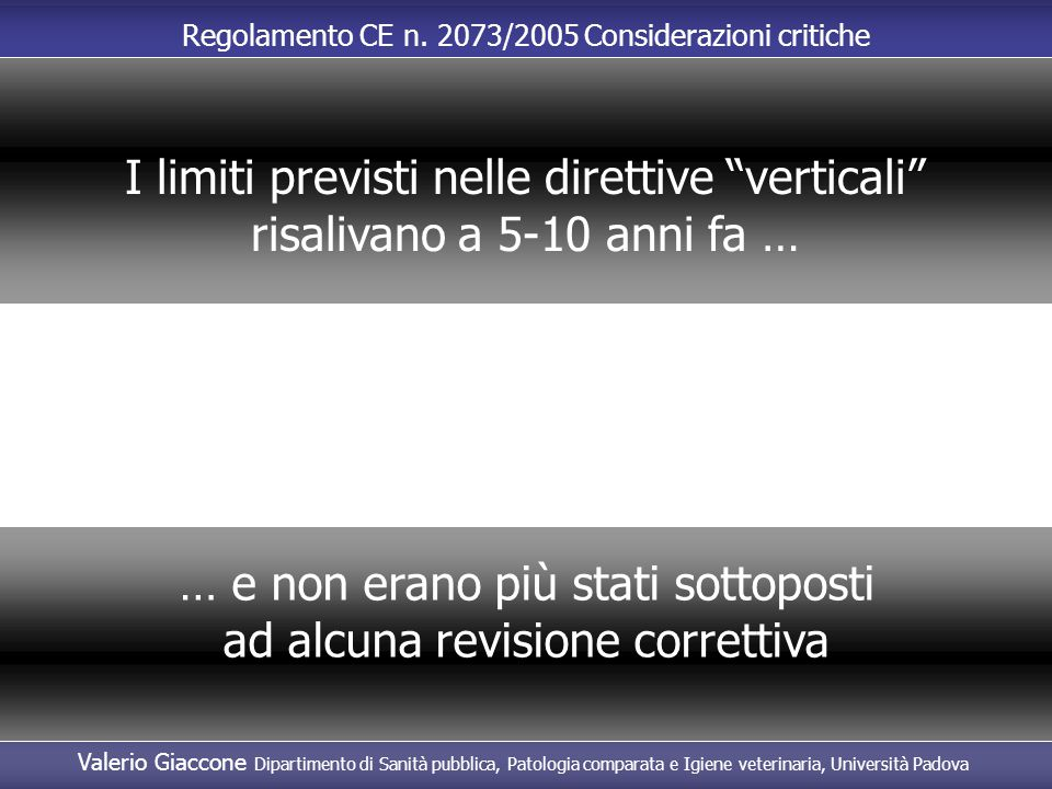 I limiti previsti nelle direttive verticali
