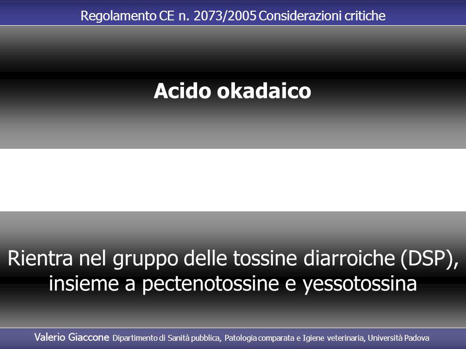 Rientra nel gruppo delle tossine diarroiche (DSP),