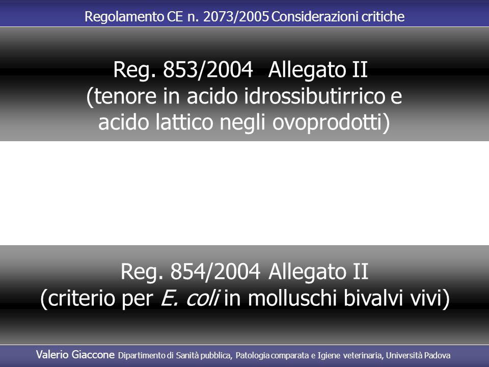 (tenore in acido idrossibutirrico e acido lattico negli ovoprodotti)