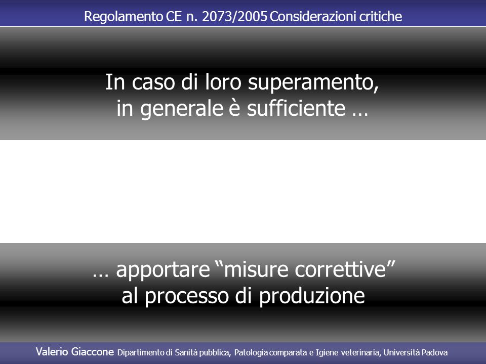 In caso di loro superamento, in generale è sufficiente …