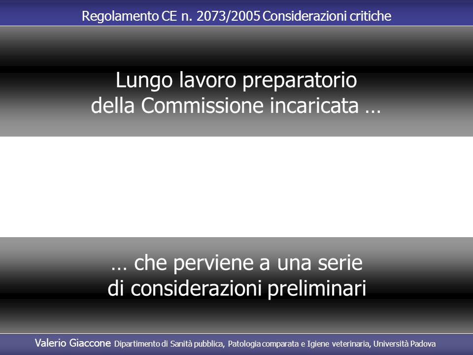 Lungo lavoro preparatorio della Commissione incaricata …