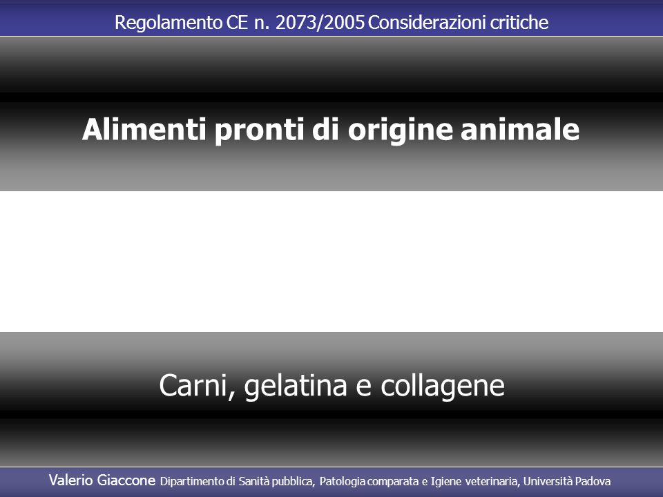 Alimenti pronti di origine animale