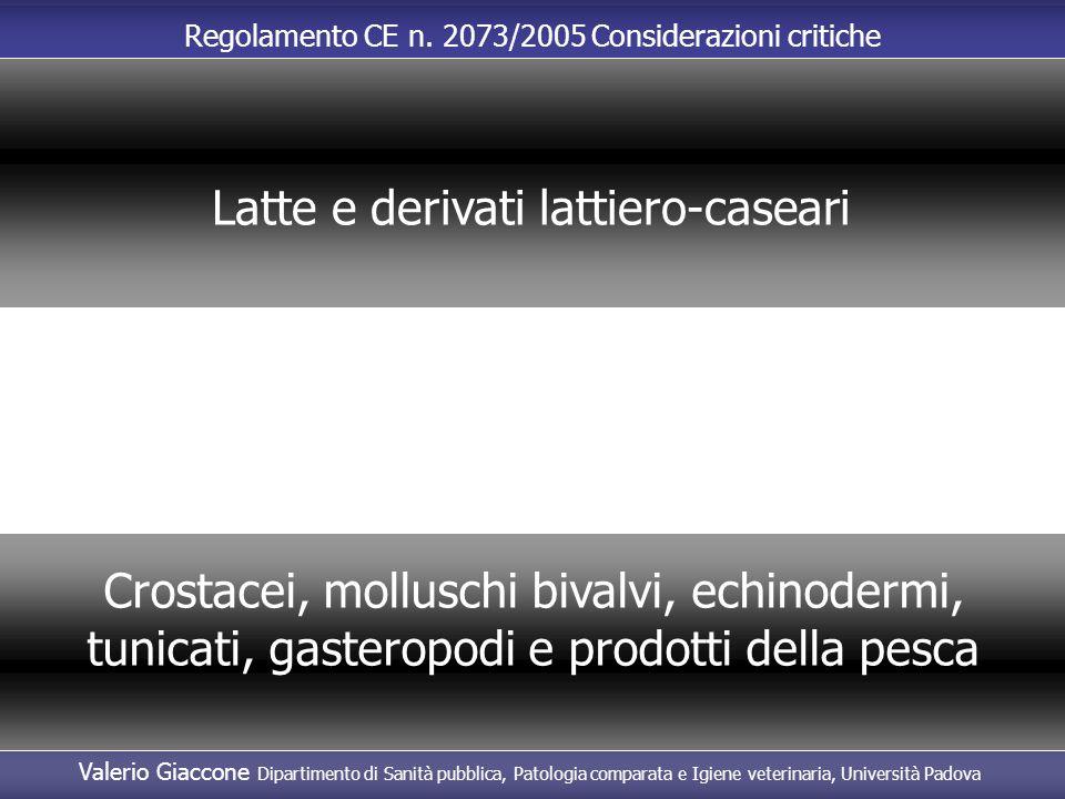 Latte e derivati lattiero-caseari