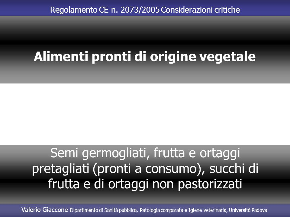 Alimenti pronti di origine vegetale