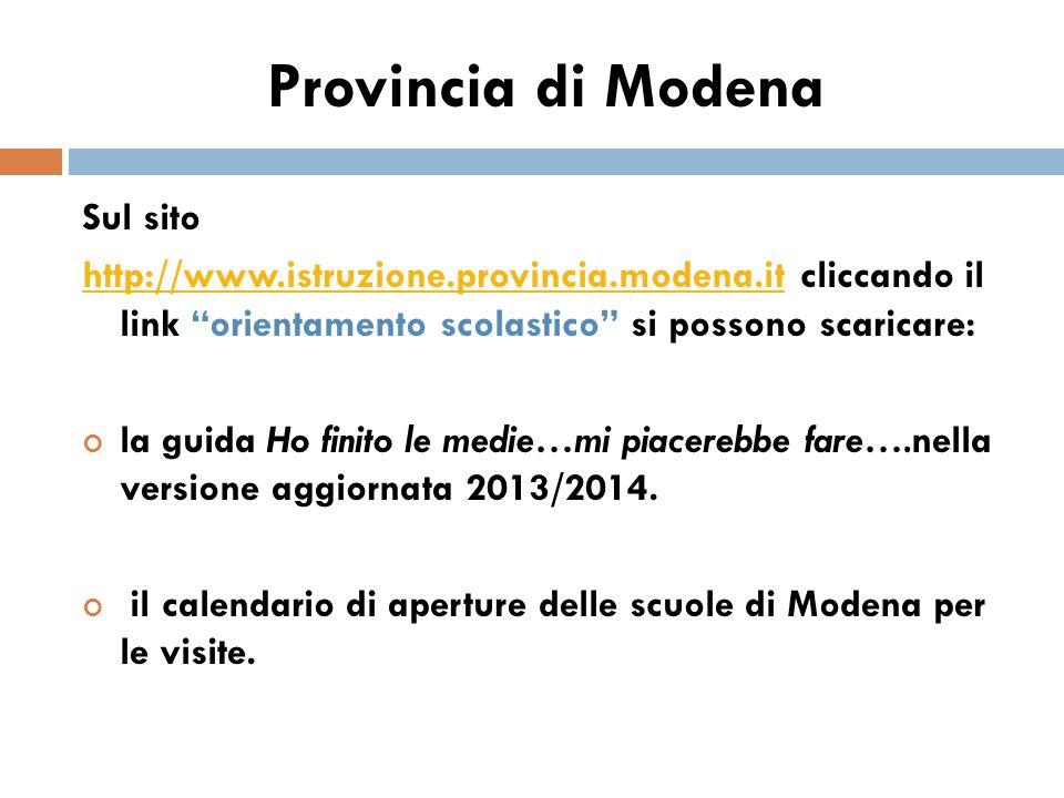 Provincia di Modena Sul sito