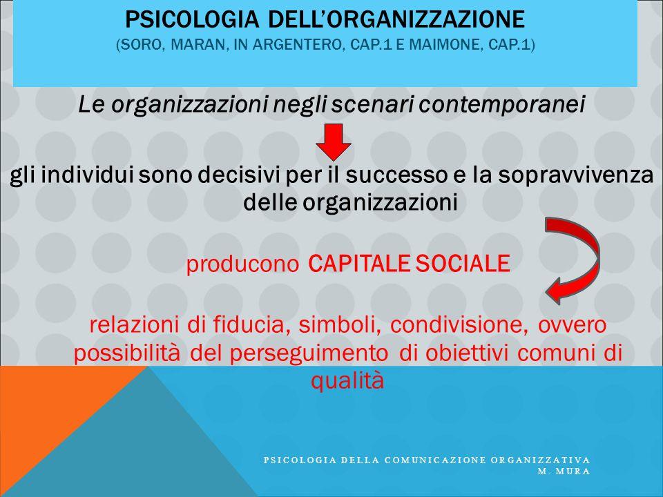 Le organizzazioni negli scenari contemporanei