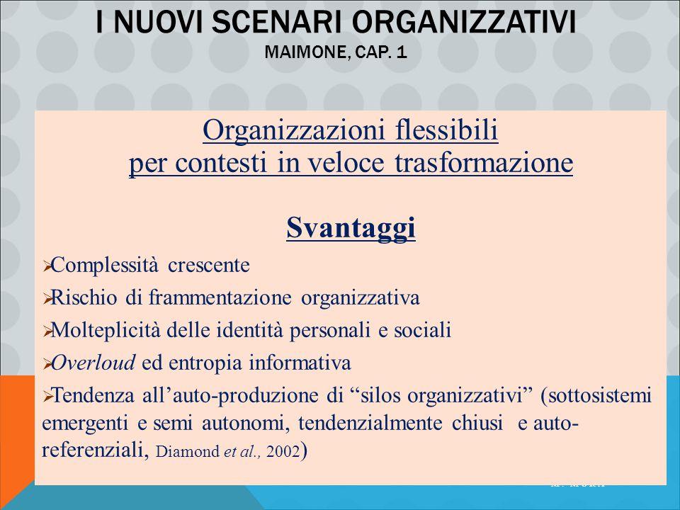 I nuovi scenari organizzativi Maimone, cap. 1