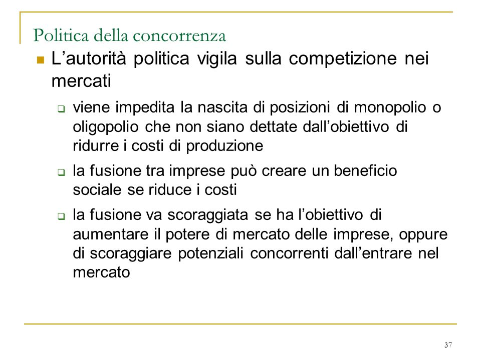 Politica della concorrenza