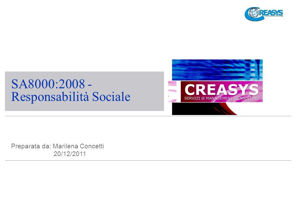 SA8000:2008 - Responsabilità Sociale