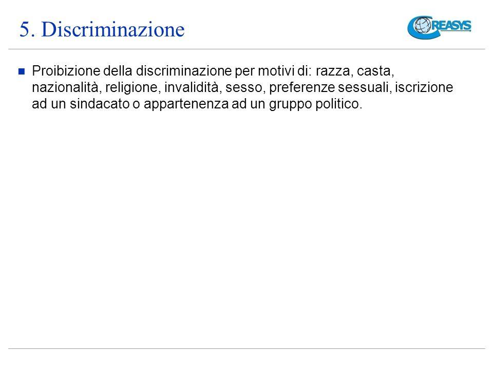 5. Discriminazione