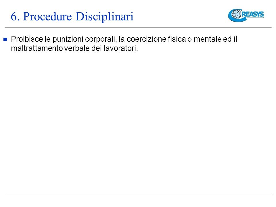 6. Procedure Disciplinari