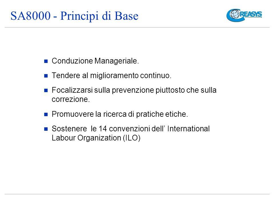 SA8000 - Principi di Base Conduzione Manageriale.