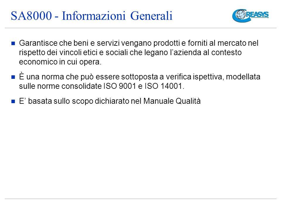 SA8000 - Informazioni Generali