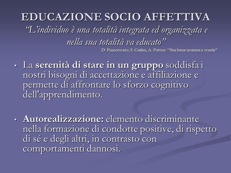 EDUCAZIONE SOCIO AFFETTIVA