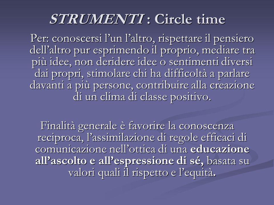 STRUMENTI : Circle time