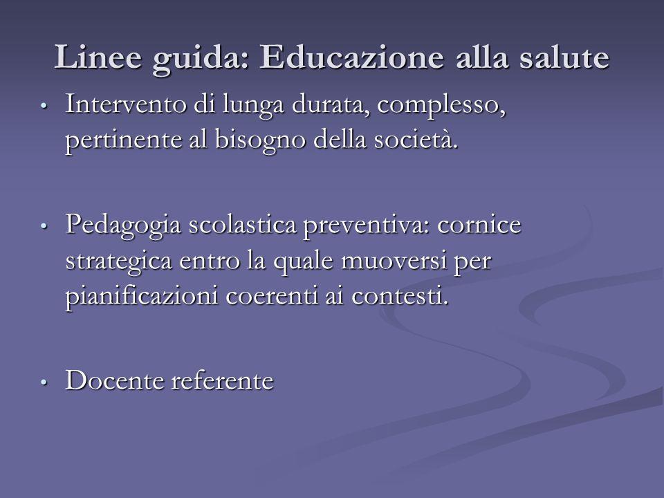 Linee guida: Educazione alla salute