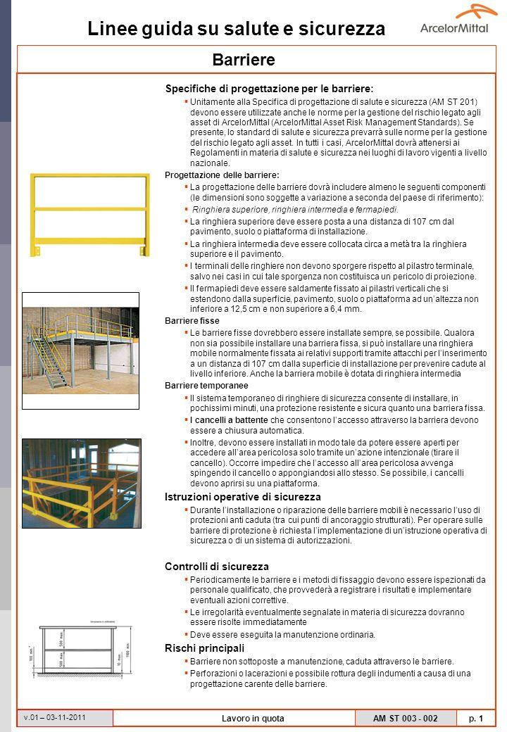Barriere Specifiche di progettazione per le barriere: