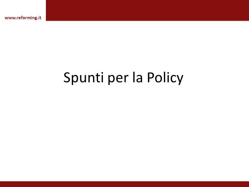 www.reforming.it Spunti per la Policy