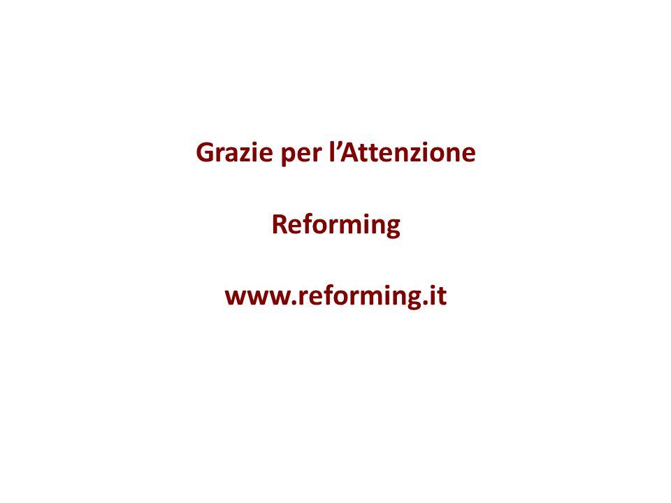 Grazie per l'Attenzione Reforming www.reforming.it