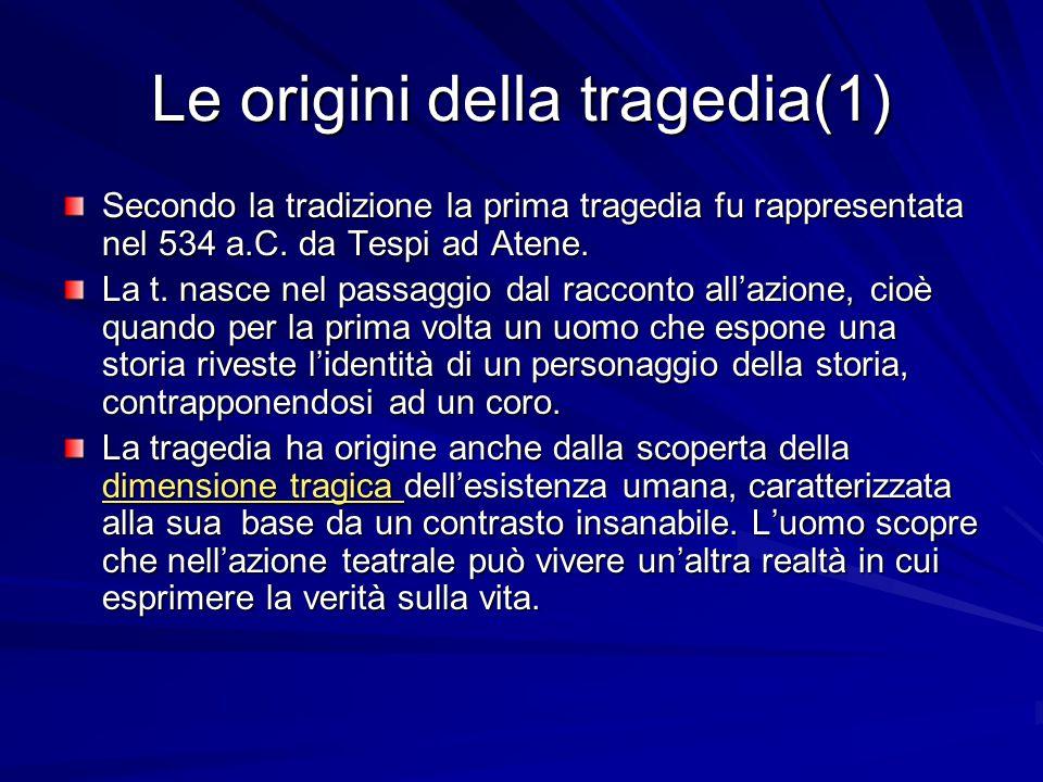 Le origini della tragedia(1)
