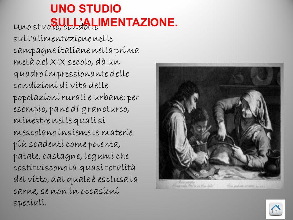 UNO STUDIO SULL'ALIMENTAZIONE.