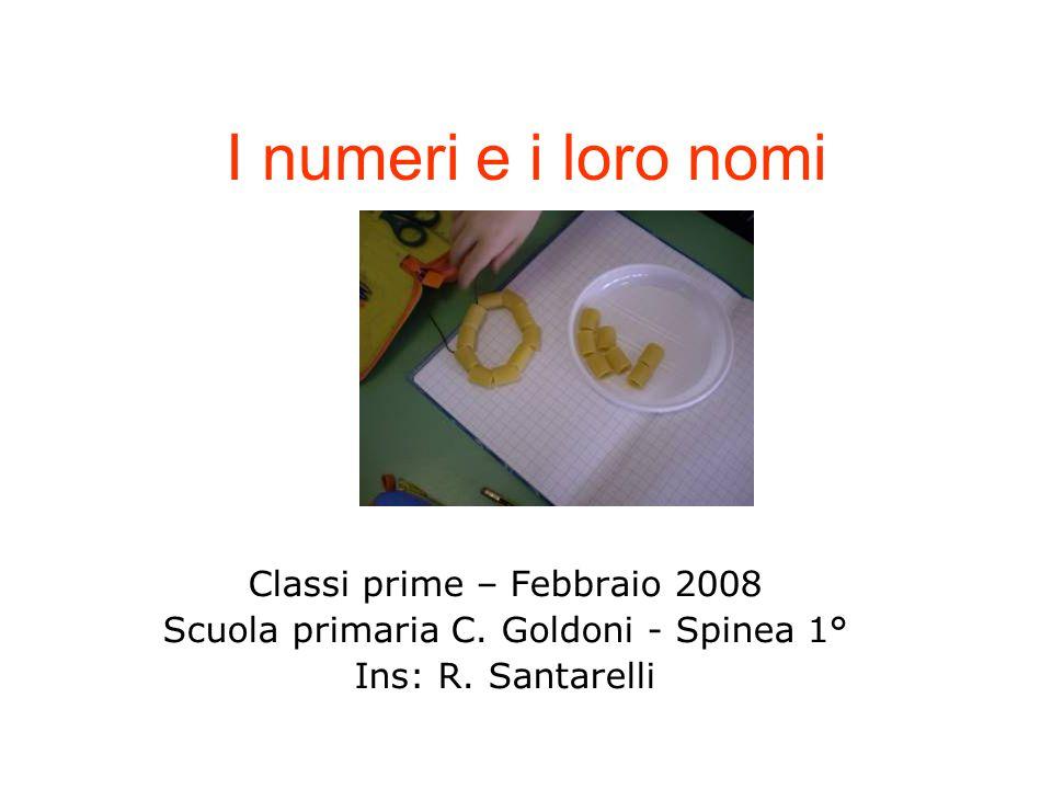 I numeri e i loro nomi Classi prime – Febbraio 2008