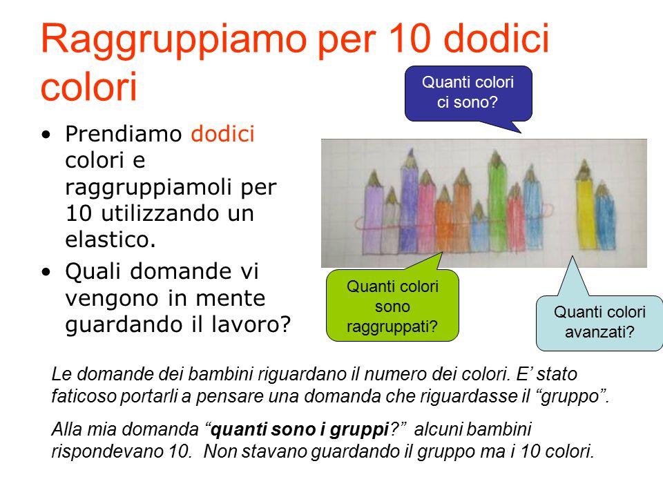 Raggruppiamo per 10 dodici colori