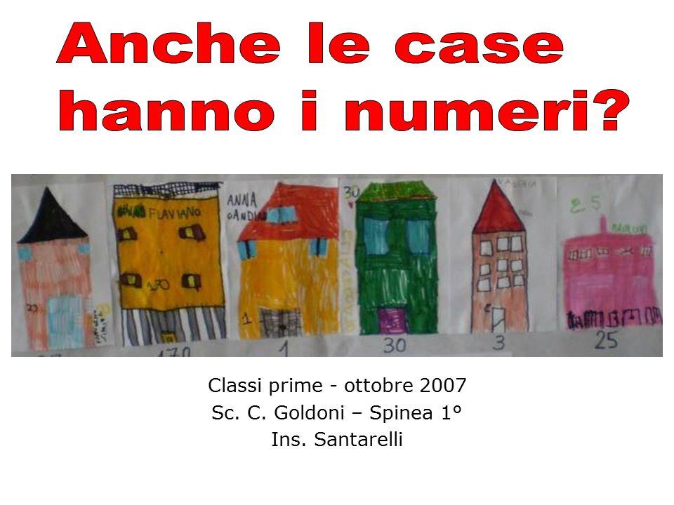 Classi prime - ottobre 2007 Sc. C. Goldoni – Spinea 1° Ins. Santarelli