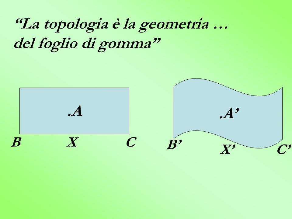 La topologia è la geometria … del foglio di gomma