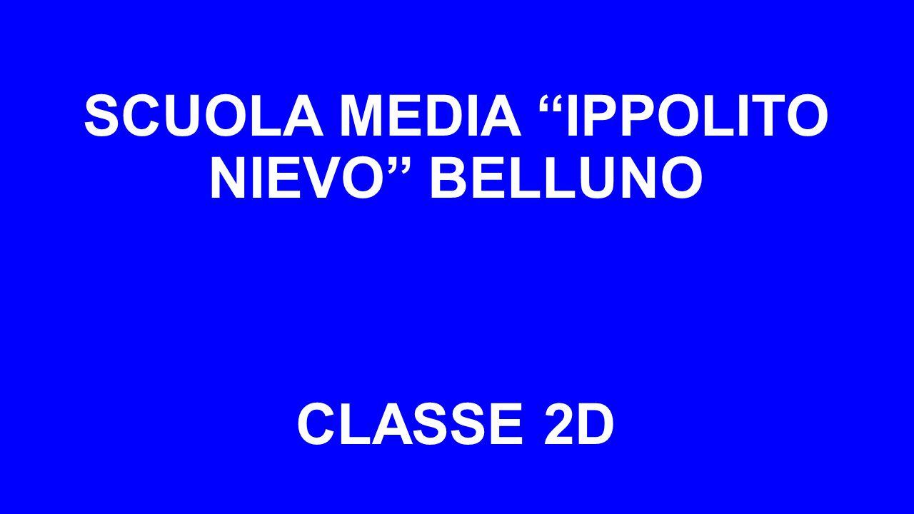 SCUOLA MEDIA ''IPPOLITO NIEVO'' BELLUNO CLASSE 2D