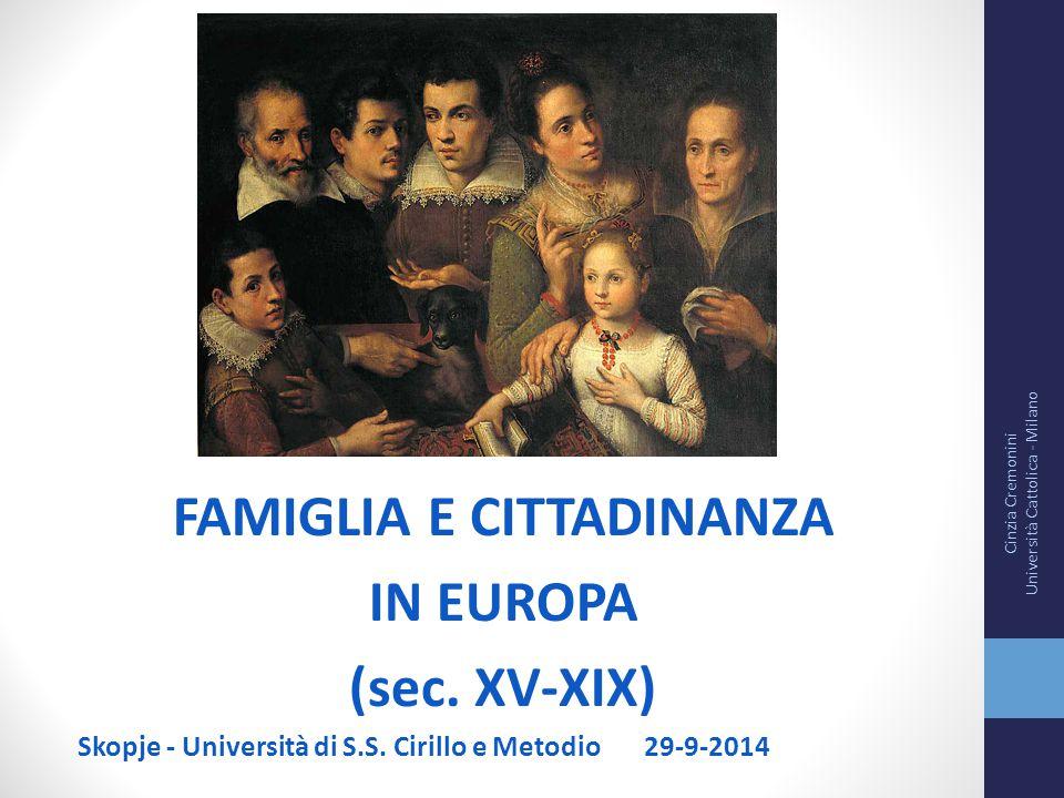FAMIGLIA E CITTADINANZA