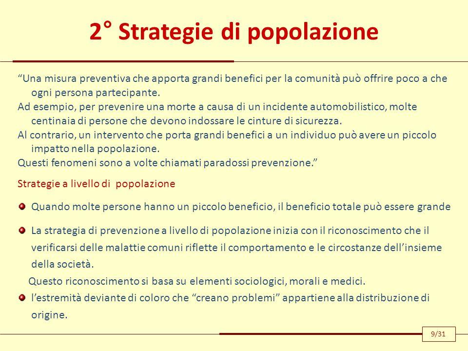 2° Strategie di popolazione