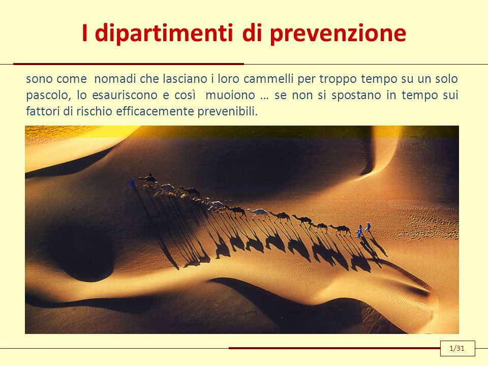 I dipartimenti di prevenzione