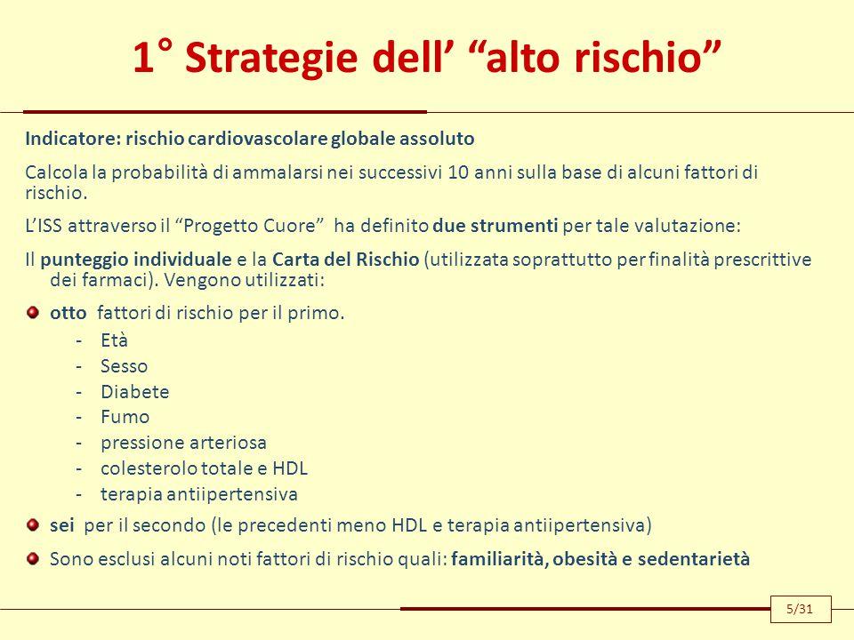 1° Strategie dell' alto rischio