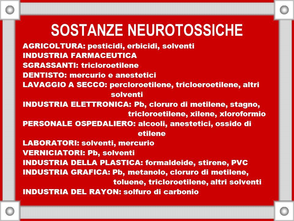 SOSTANZE NEUROTOSSICHE